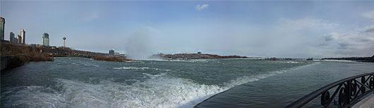 Niagara Falls seen from back